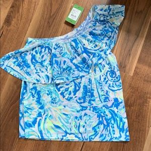 Lilly Pulitzer Matteo top Bennett blue salty seas